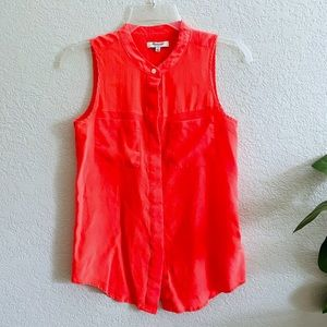 Madewell Silk Orange/Coral Top size Small